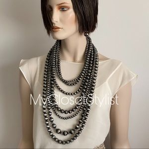 Multi-Strand Pearls STUNNING STATEMENT Necklace XL